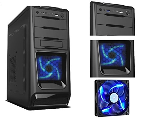 RGDIGITAL BLUE A6 - PC DESKTOP GAMING ALANTIK VENTOLA BLHDMI VGA Scheda grafica: AMD Radeon HD 8470D /USCITE,VGA,HDMI USB 2.0, 3.0 / DVD RW/ COMPLETO ULTRA VELOCE PRONTO ALL'USO adatto Ufficio, Famiglia, GamerU AMD A6 6420K 4.0 GHZ BLACK EDITION (TURBO MAX FINO A 4.2GHZ)/ WIFI /RAM 16GB 1600 MHZ/HD 1TB SATA III/ , Gaming PC Multimedia ,sala scommesse