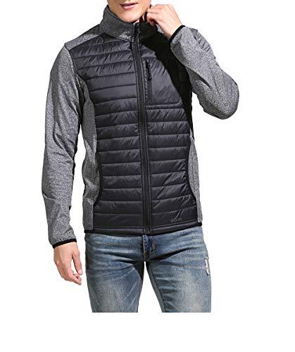 Amazon Marke: Eono Essentials Herren DuPont Sirona Eco Wattierte Hybridjacke, Schwarz, S
