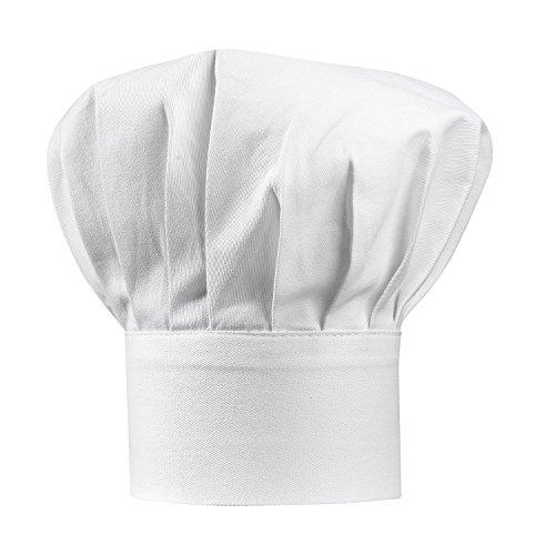 Winkler - Toque Chef – Couvre-chef blanc – Chapeau de cuisinier adulte – Protection cheveux