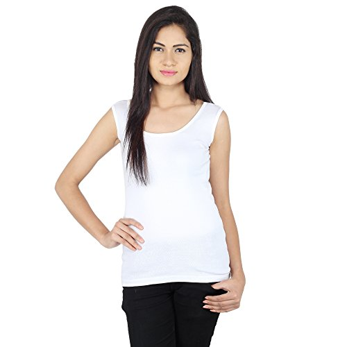 SHREE Combo of Black and white camisole for girls with broad strap Pack of 2