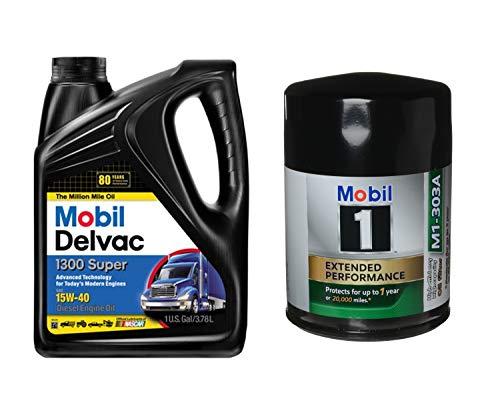 Mobil Delvac 15W-40 Heavy Duty Diesel Oil, 1-Gal,...