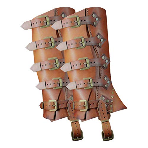 N/J Leggings Leggings Funda para Zapatos Polainas, Medieval Punk Gothic Faux Leather...