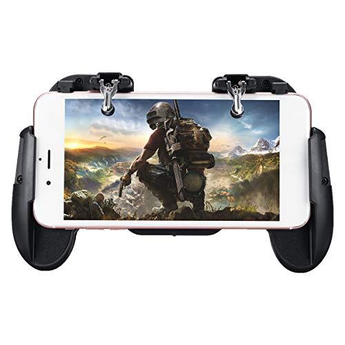 C-FUNN Fire Disparador Tiradores Botón Controlador Gamepad Teléfono Soporte Estirable para Pubg Juego Móvil