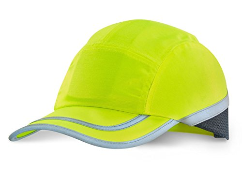 Lemming Anstoßkappe Hi-Vis Warnschutzkappe Basecap mit Schutzschalle innen Kopfschutz Anstosskappen - bietet Kopfschutz ersetzt Aber keinen Arbeitsschutzhelm Schutzhelm oder Bauhelm (warngelb)