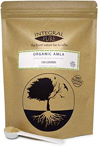 Organic Amla Powder (Indian Gooseberry) Amalaki, Emblica officinalis, Dry hog Plums | 1g Scoop Included (200g)