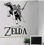 Anime De Gran Tamaño, Zelda Legend, Vinilo Tallado, Vinilo De Dibujos Animados Negro, 58X87Cm