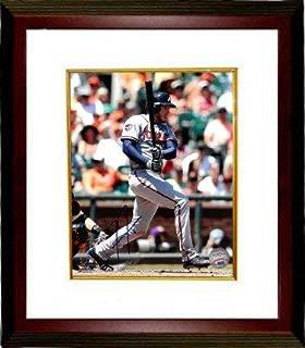 Freddie Freeman Autographed Signed Memorabilia Atlanta Braves 8x10 Photo Custom Framed #5 (Gray Jersey -At Bat) - Certified Authentic