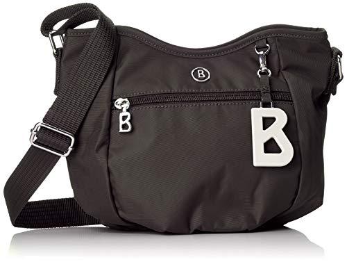 Bogner Damen Verbier Aria Shoulderbag Shz Schultertasche, Schwarz (Black), 12x18.5x24 cm