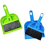 nbvmngjhjlkjlUK Mini Cepillo de Escoba de Limpieza y Juego de recogedor Juego de Cepillo de Escoba + recogedor de Escritorio Barrido de Limpieza Juego de recogedor (Color Aleatorio)