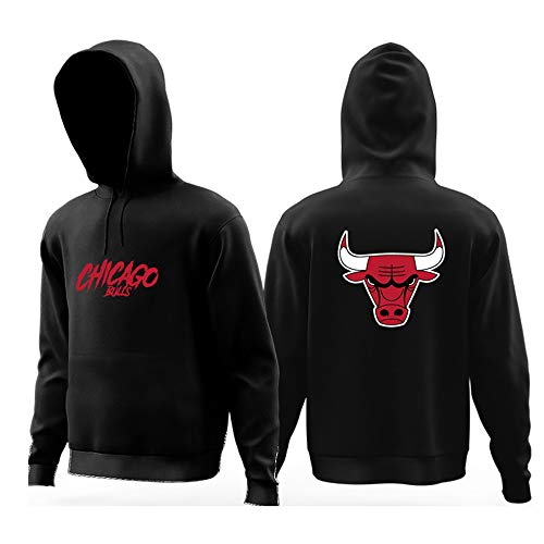 YHSports Chicago Bulls Jugend Jungen Pullover Hoodie Sweatshirt Basketball Trainingsanzug,Verdickt Plus Samt,S