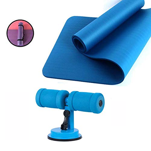 3-Delige Yoga Equipment Set, Sit-Up Aids, Yoga Mat, Verband, Voor Pilates, Grondoefeningen Sit-Up Ab Oefeningen,Blue