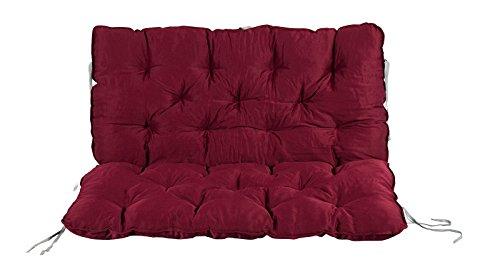 Meerweh Auflage mit Rückenteil für Bank, rot, 100 x 98 x 12 cm, 74081