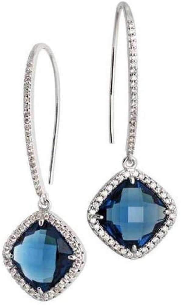 boccadamo orecchini per donna orecchini in bronzo rodiato e pendente in cristallo briolette blue xor404b