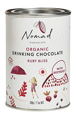 Nomad Chocolate - Organic Hot Chocolate Ruby Bliss with Spices and Beetroot, 7.05oz