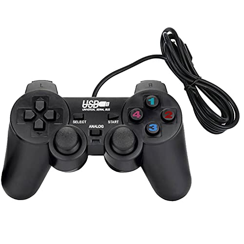 USB Wired Game Controller für Windows PC/Raspberry Pi Remote Gamepad Plug and Play Joypad Dual Shock Game Joystick für Roblox/Steam/RetroPie/RecalBox