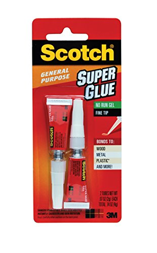 Scotch Super Glue Gel, 0.07-Ounce, 2-Pack