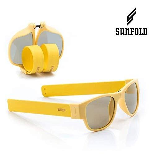 Sunfold Pastel Gafas de Sol Enrollables, Hombre, Azul y Blanco, Talla Única