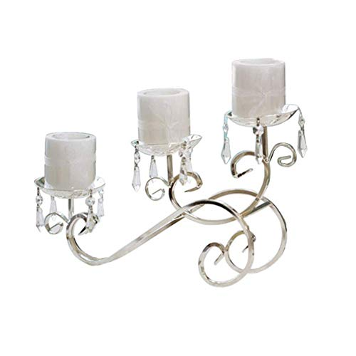 Sortim Europäischer Schmiedeeisen Kerzenständer Metall versilbert 3 Kerzenständer Hochzeit Geschenk Requisiten Bar Home Neu