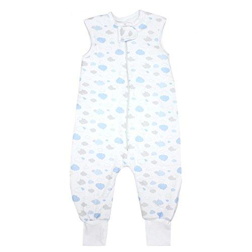 TupTam Baby Unisex Winter Schlafsack mit Beinen, Farbe: Wolken Grau/Blau, Größe: 104-110
