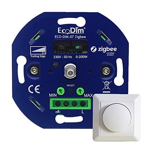 Ecodim - Zigbee LED Dimmer - Smart dimmer Phasenabschnitt - 230V - Kompatibel mit Amazon Alexa (Echo, Echo Dot) & Google Home