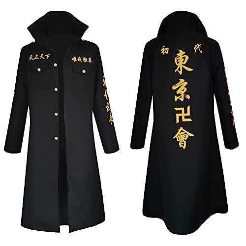 FLMunan Mikey Draken Tokyo Revengers Cosplay Disfraz Tokyo Revengers Chaqueta Camisa Pantalones Cinturón Peluca Conjunto Completo Traje de Halloween Regalos