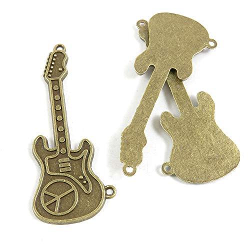 Antieke Bronzen Toon Sieraden Charms R4ZR8E Anti Oorlog Tekenen Elektrische Gitaar Craft Art Maken Crafting Kralen Antiek brons