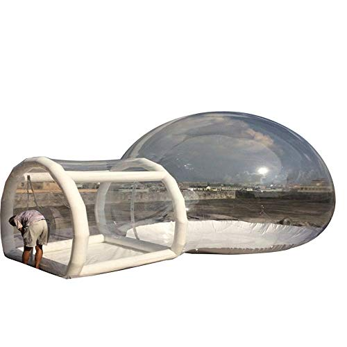 SHENAISHIREN Carpa Familiar Inflable de Lujo para 2 Personas, Carpa túnel Familiar, Resistente al Agua con Dormitorio Independiente y panorámica Grande
