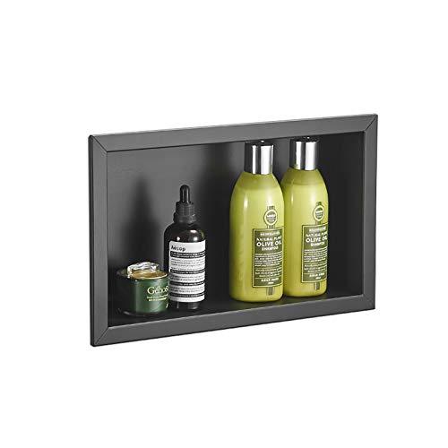 Schwarze Duschnische, 304 Edelstahl Einbauduschen Caddies Shelf Organizer für Bad/Shampoo/Toilettenartikel, Anti-Rost und wasserdicht