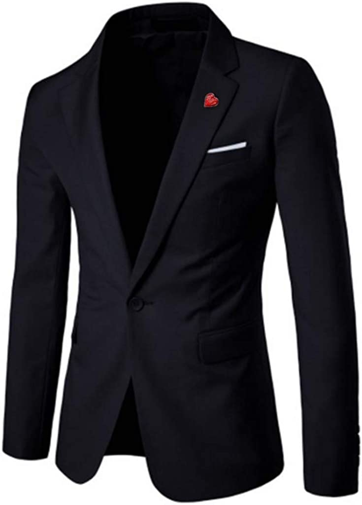 Men's Blazer Slim Fit Stylish Suit Jacket for Formal Business Wedding Party