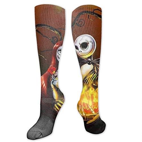 wu Digital printing Nightmare Before Christmas Art Performance Sports Long Socks Unisex