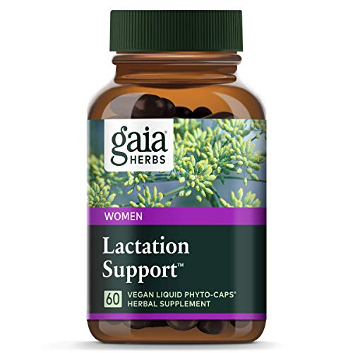 Gaia Herbs Lactation Support, Vegan Liquid Capsules, 60 Count - Lactation Supplement for Breastfeeding Mothers, Supports Healthy Milk Flow & Enhances Breast Milk Nutrition
