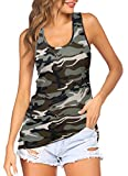 Halife Women's Summer Sleeveless Scoop Neck Casual Tank Tops Blouse Shirts Muscle Tanks Green XXL