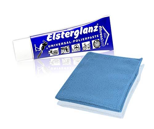 Helmecke & Hoffmann * Elsterglanz Universal-Polierpaste für Metalle Tube 40 ml + Mikrofaser-Tuch   Das Original aus Deutschland