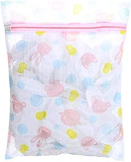 KLU Wäschebeutel aus Nylon-Netzstoff, für Unterwäsche, BHs, Socken, Waschmaschine, tragbar, Größe M