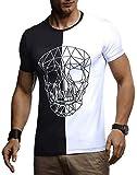 Leif Nelson Herren Sommer T-Shirt Rundhals-Ausschnitt Slim Fit Baumwolle-Anteil Basic Männer...