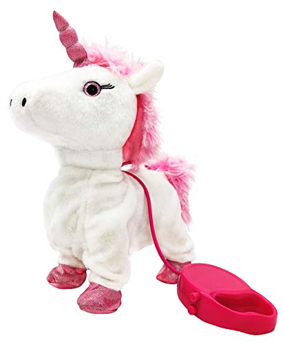 Meva Unicorn Kids Walking and Singing Unicorn Toy Pet with Remote Control Leash