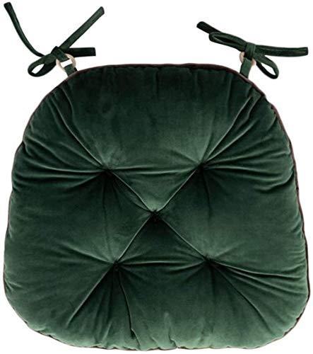 Seat Cushion For Chair Felpa gruesa Silla de comedor Almohada, sedentario de oficina Silla Silla de invierno Cojín Estudiante con el lazo de la cuerda decoración del hogar, 42x40cm, muchos colores for