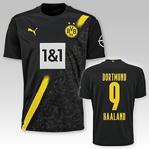 PUMA BVB Auswärtstrikot Erwachsen Saison 2020/21, Größe:M, Spielername:9 Haaland