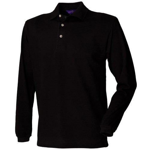 Henbury - Polo à manches longues - Homme (L) (Noir)