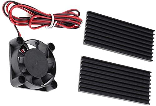 Accesorios de impresora Mini ventilador de refrigeración de 24 V silencioso y enfriador de CPU Disipadores de calor Pad Tarjeta gráfica Kit de adaptador de video para electrónica, computadora PC, extr