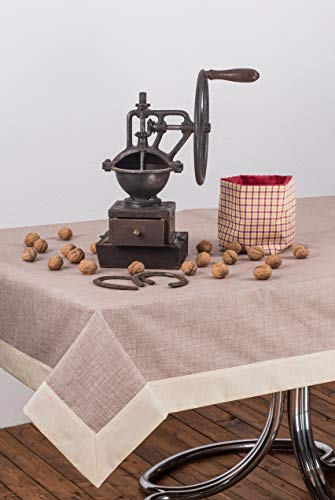 Esse Home - Línea Confestyl - Mantel Cubierta de mesa antimanchas - Cuadrado - para 8 personas - Made en Italy - Cinzia 100
