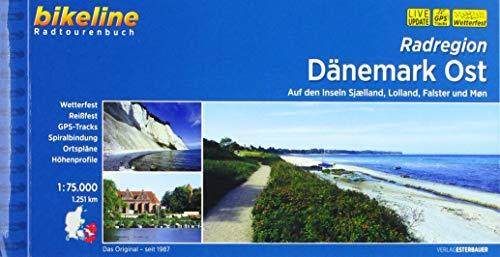 Radregion Dänemark Ost: Auf den Inseln Sjaelland, Lolland, Falster und Mon, 1:75.000, 1.251 km, wetterfest/reißfest, GPS-Tracks Download, LiveUpdate: ... 1:75.000, 1.236 km (Bikeline Radtourenbücher)