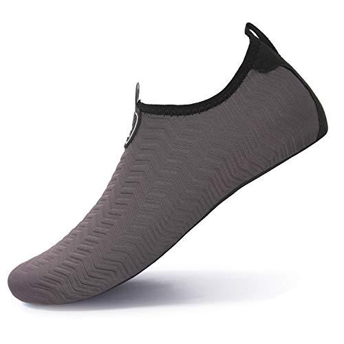 L-RUN Männer Wasser Aerobic Schuhe Wasser Aqua Turnschuhe Wrinkle Grey XXXL (M: 10.5-11.5)