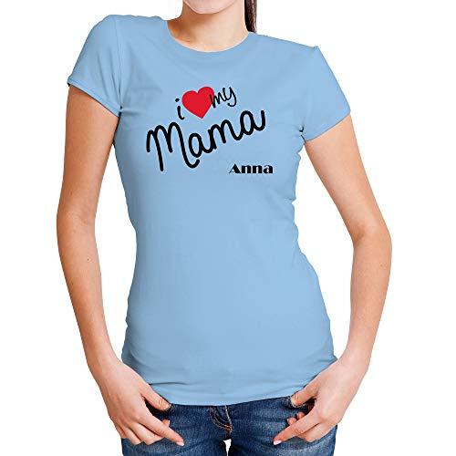 LolaPix Camiseta Te Quiero Mama Personalizada con Nombre ...