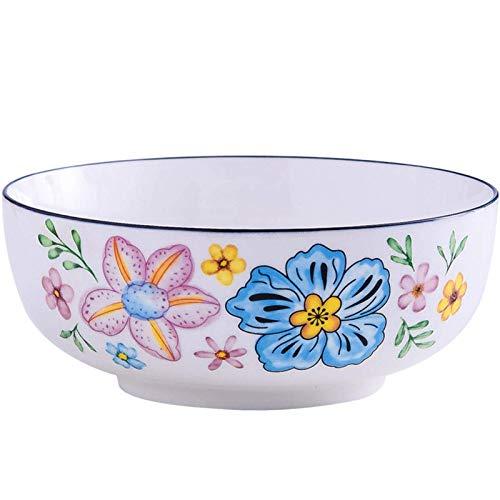 Home kitchen products - Cuenco de utensilios de cocina, cuencos de cerámica de 2150 ml, para sopa, postre, ensalada pequeña, pasta o harina de avena, microondas y lavavajillas, cuencos lindos para coc