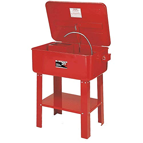 AFF Automotive Parts Washer with Electric Pump with Parts Basket, 20 Gallon Capacity, 30