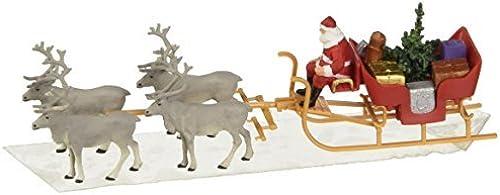 CHRISTMAS SLEIGH WITH REINDEER - PREISER HO SCALE MODEL TRAIN FIGURES 30399 by Preiser