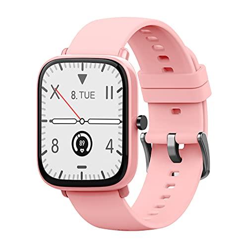 KOPOU Reloj Inteligente con Pantalla Grande de 1 69 Pulgadas Pulsera de Seguimiento de La Salud de La Frecuencia Cardíaca/Presión Arterial/Oxígeno