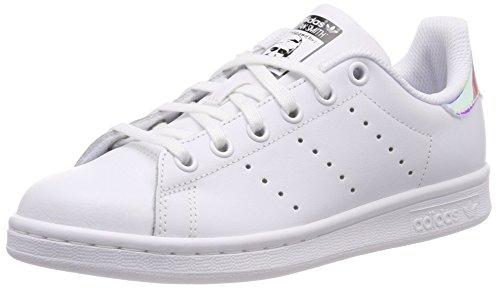adidas Stan Smith Sneaker Unisex - Bambini, Multicolore (White Ftwwht/Metsil/Ftwwht), 37 1/3 EU