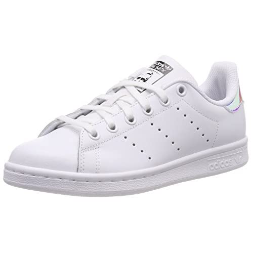 adidas Stan Smith J, Sneaker Unisex-Adulto, Multicolore White Ftwwht Metsil Ftwwht, 36 EU